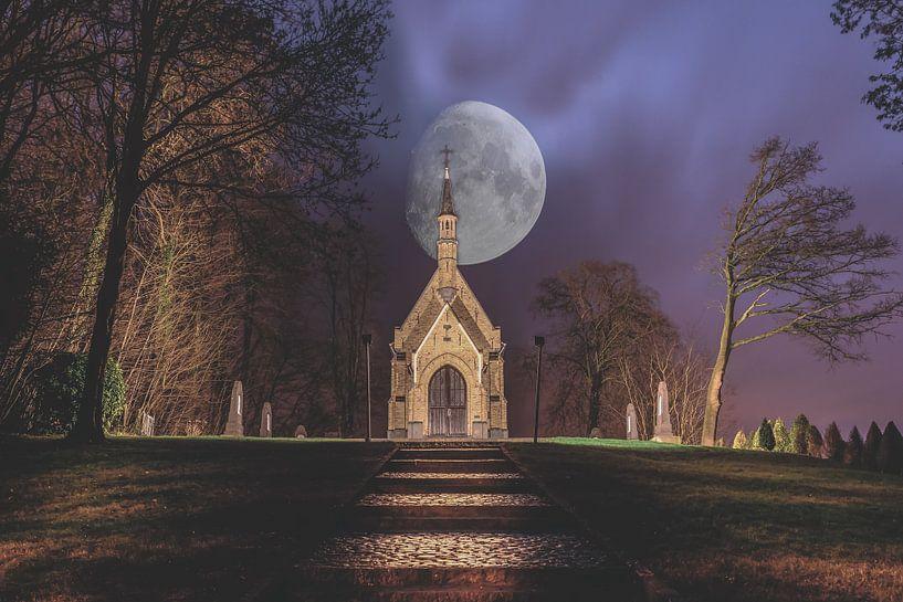 Een mooie nacht in Brakel (Belgie) van Bjorn Dockx
