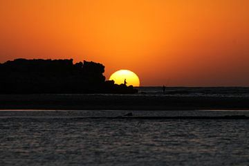 visserman bij zonsondergang van Mirjam Sijtsma
