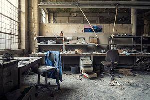 verlaten werkplaats