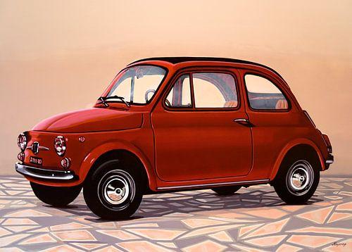 Fiat 500 Schilderij van Paul Meijering