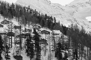 Zwitserse Alpen Saas-Grund van