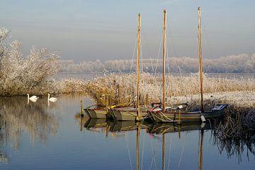 Winters tafereel aan het Noord Aa in Zoetermeer van Hans Brinkel