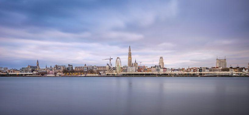Antwerpen skyline van Johan Vanbockryck