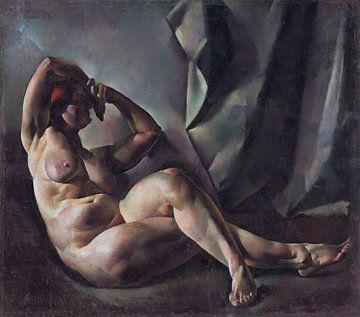Akt im Studium, Vilmos Aba-Novák - 1921 von Atelier Liesjes