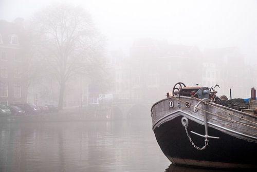 Mistige ochtend langs de Amstel