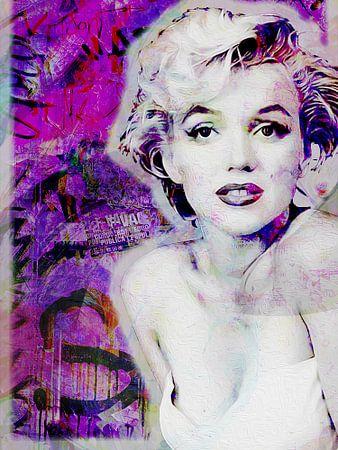 Marilyn Monroe graffiti van Joost Hogervorst