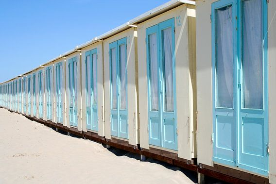 Ik heb zin in de zomer...Strandhuisjes ! van Karin Hendriks Fotografie