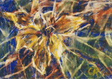 Gelbes Magnolien Stillleben, Christian Rohlfs, Wohl 1930 von Atelier Liesjes