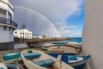 Dubbele regenboog in Lanzarote van Easycopters
