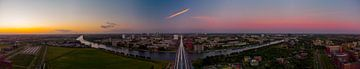 Utrecht in sunset