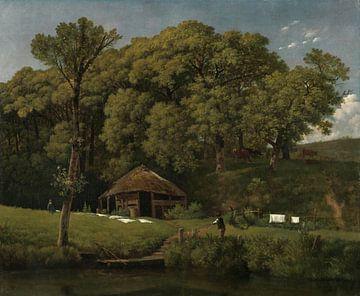 Eine Scheune am Ufer eines Baches in Gelderland, Wouter Johannes van Troostwijk