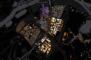 Kaart van Vianen abstract