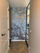 Kundenfoto: Mandelblüte ALMOND BLOSSOM zartes blau, morgentau - Vincent van Gogh, auf nahtloser fototapete