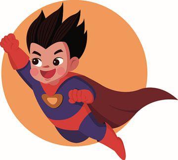 superheld, een jongetje met een cape van Atelier Liesjes