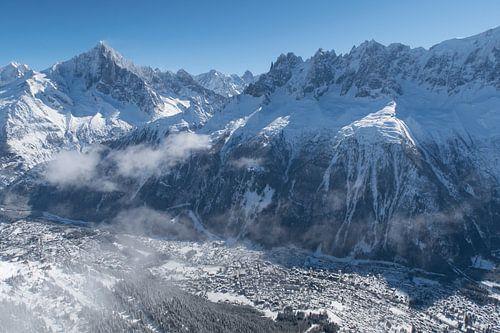 Chamonix in de Mont Blanc vallei van