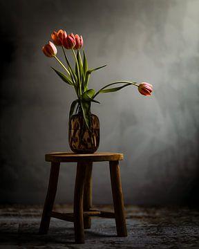 Stilleben mit Tulpen von Hille Monster