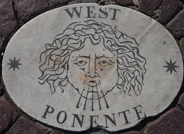 West, Potente, 1 der vier Ecken des Kompasses von St. Pietersplein (1/4)