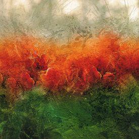 Rode tulpen van Carla van Zomeren