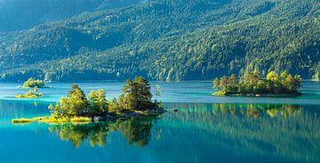 Inseln im Eibsee im Sommer, Bayern, Deutschland von Markus Lange