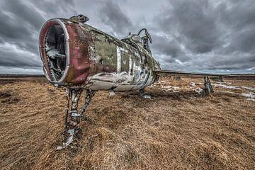 Verlaten vliegtuig van Gerben van Buiten