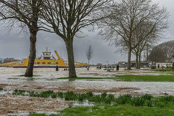 Hoogwater van de Lek te Schoonhoven van Rossum-Fotografie