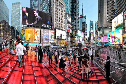 New York Times Square van