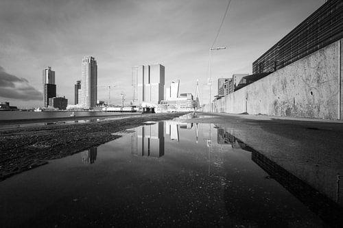 Skyline Rotterdam van Sander Monster