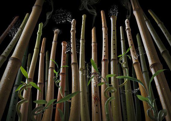 Bamboo flute forest van Olaf Bruhn