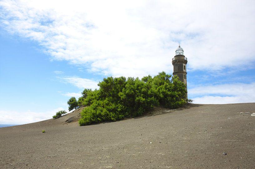 Lava Landschaft Leuchtturm sur Jan Brons