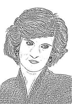 Diana, Prinzessin von Wales von Jose Lok