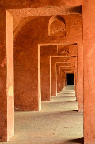 Doorkijk Taj Mahal van