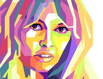 Brigitte Bardot Pop Art Schilderij van Kunst Company