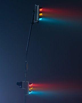 Feux de circulation la nuit sur Bastis photos