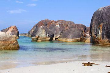 Strand paradijs oceaan landschap, Australië  van Inge Hogenbijl