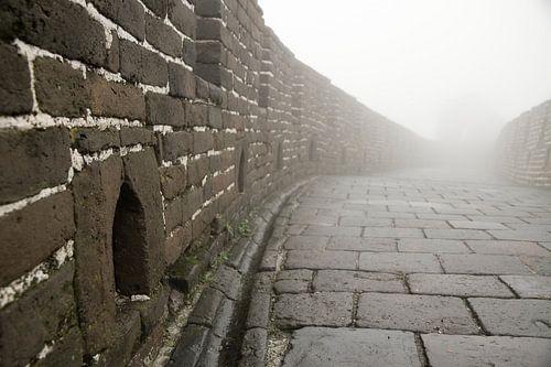 Mist op de chinese muur van