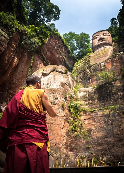 Leshan Buddha van Ferdi Merkx