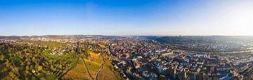 Panorama Esslingen am Neckar aus der Vogelperspektive von Werner Dieterich