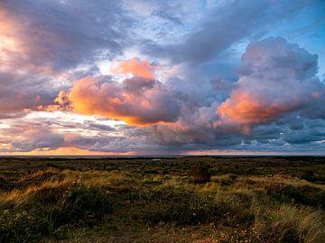 Zonsondergang aan zee. Vlieland van suuspixs