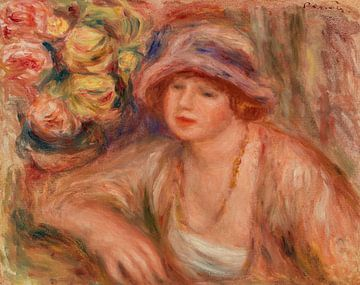 Anlehnende Frau, Renoir (1918)