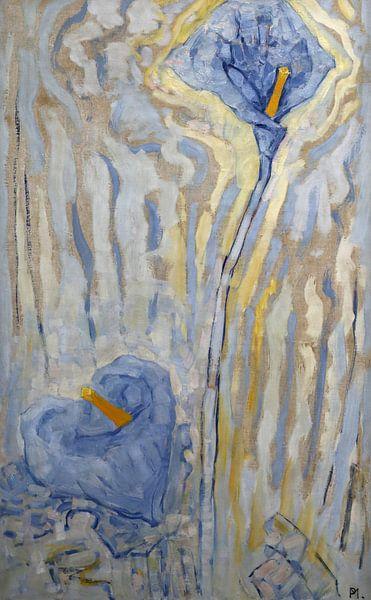 Blumen, Piet Mondrian von 1000 Schilderijen