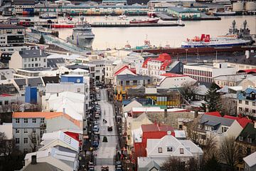 Zicht over Reykjavik von Sjoerd Mouissie