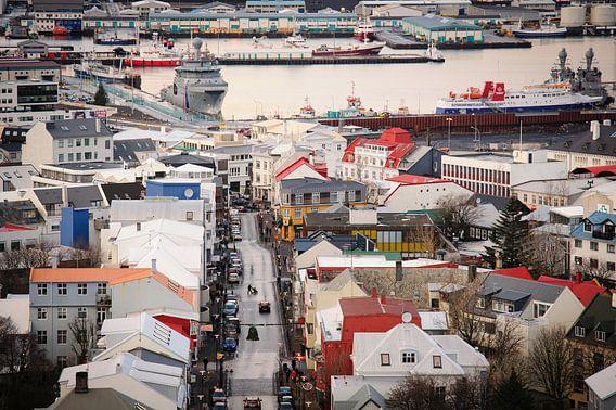 Zicht over Reykjavik
