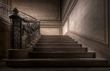 Verlaten trap van