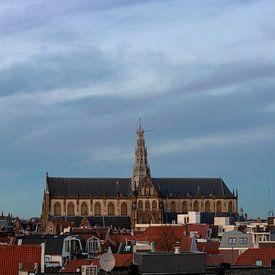 Panorama met Grote Kerk in Haarlem van Arjen Schippers