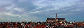 Panorama met Grote Kerk in Haarlem