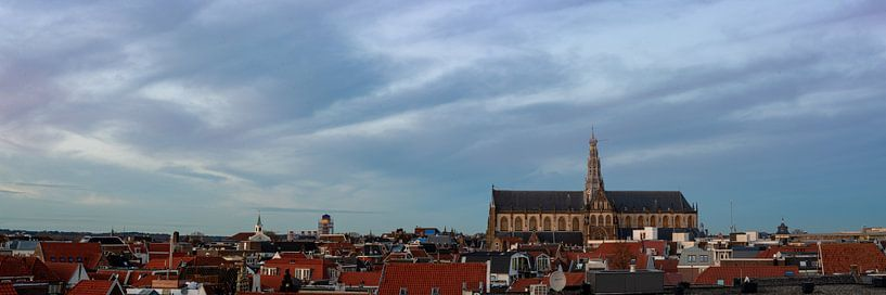 Panorama avec la Grote Kerk à Haarlem sur Arjen Schippers