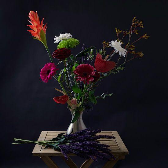 Stilleven met bloemen.
