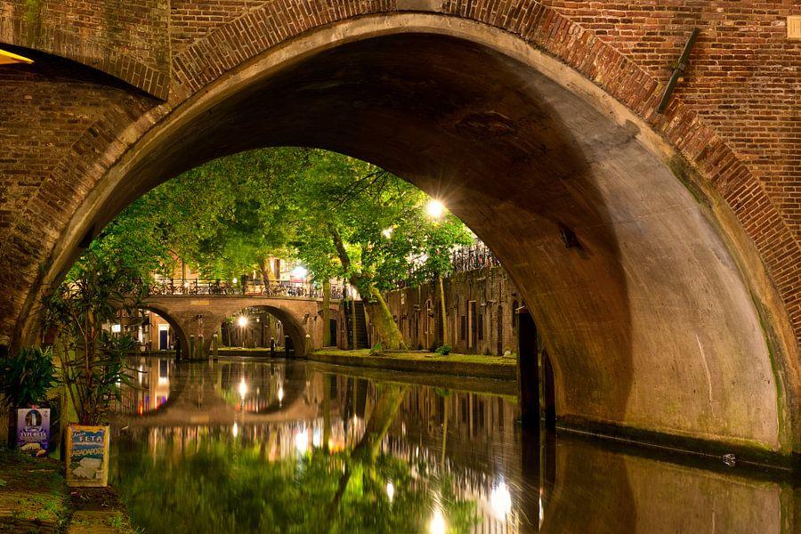 Utrecht Oudegracht: Hamburgerbrug van martien janssen