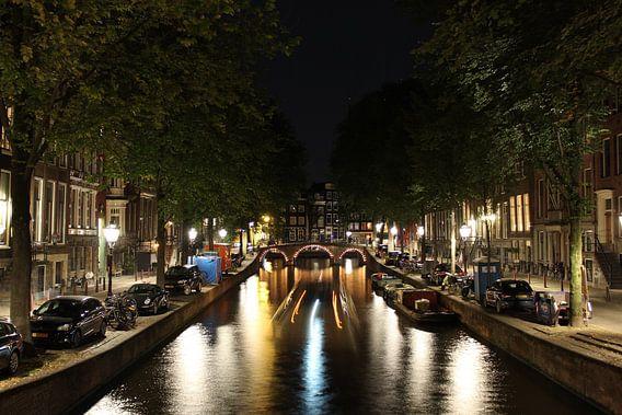 Leidsegracht in Amsterdam in de nacht
