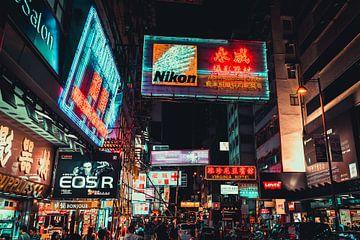 Neon in Mong Kok van Mickéle Godderis
